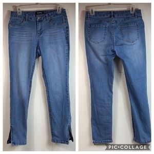 Ankle zip stretch skinny/ jeggings jeans: d. jeans